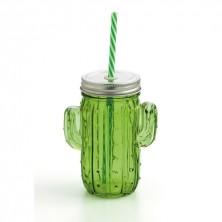 Jarras Cactus Verde Renova Con Tapa 35 cl (Caja 24 uds)