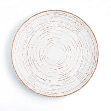 Plato Llano Tornado White 21 cm (Caja 6 uds)