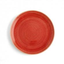Plato Llano Terra Rojo 31 cm (Caja 6 uds)