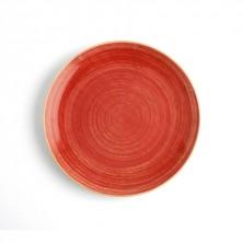 Plato Llano Terra Rojo 27 cm (Caja 6 uds)