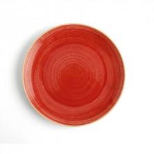 Plato Llano Terra Rojo 24 cm (Caja 6 uds)