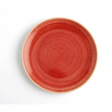 Plato Llano Terra Rojo 21 cm (Caja 6 uds)