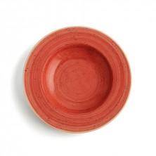 Plato Hondo Terra Rojo 26 cm (Caja 6 uds)