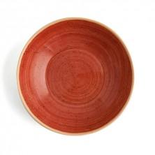 Plato Hondo Terra Rojo 21 cm (Caja 6 uds)