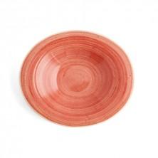 Plato Hondo Con Relieve Terra Rojo 29x25 cm (Caja 6 uds)