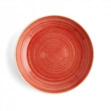 Plato Hondo Con Relieve Terra Rojo 25 cm (Caja 6 uds)