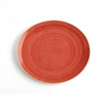 Plato Combinado Terra Rojo 30x27 cm (Caja 6 uds)