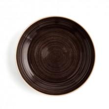 Plato Hondo Con Relieve Terra Moka 25 cm (Caja 6 uds)