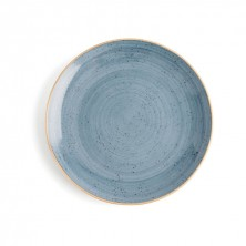Plato Llano Terra Azul 27 cm (Caja 6 uds)
