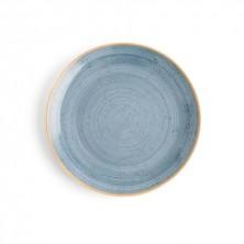 Plato Llano Terra Azul 21cm (Caja 6 uds)