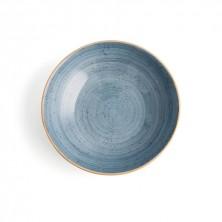 Plato Hondo Terra Azul 21 cm (Caja 6 uds)