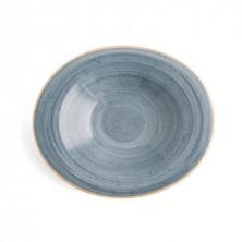 Plato Hondo Con Relieve Terra Azul 29x25 cm (Caja 6 uds)