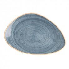 Plato Triangular Terra Azul 29 cm (Caja 6 uds)