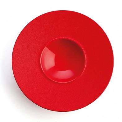 Plato Gourmet Antracita Rojo 28 cm (Caja 6 uds)
