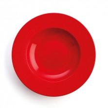Plato Hondo Antracita Rojo 26 cm (Caja 6 uds)