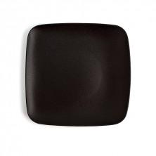 Plato Cuadrado Antracita Negro 20 cm (Caja 12 uds)