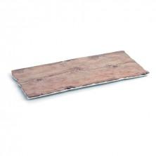 Plato Rectangular A'bordo Acabados En Madera 40x18 cm (Caja 12 uds)
