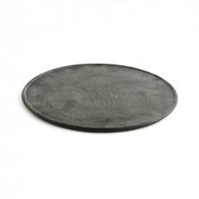 Plato Pizza Mineral Negro 33 cm (Caja 6 uds)