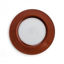 Platos Bajos Textura Cobre Vidrio 32 cm (Caja 12 uds)