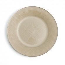 Platos Bajos Textura Dorado Vidrio 32,5 cm (Caja 12 uds)