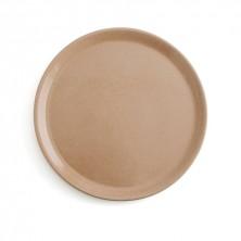 Plato Barro Vulcano Color Piedra 31 cm (Caja 8 uds)
