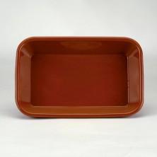 Fuente Rectangular Barro 35x25x6 cm (Caja 4 Uds)