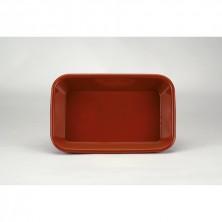 Fuente Rectangular Barro 29x19x6 cm (Caja 4 Uds)