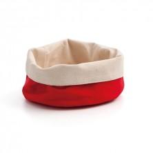 Panera Algodón Roja / Beige 17x8 cm