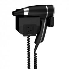 Secador Pelo Brittony Negro 1600 W + Soporte Frontal Con Toma De Afeitar Monotensión