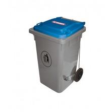 Cubo Basura 120 L Azul