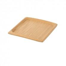 Mini Plato Bambú Cuadrado 6x6 cm (Pack 24 Uds)