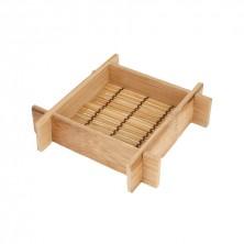 MIni Recipiente Tejido Flotante Bambú 12x12x3 cm (Pack 20 Uds)
