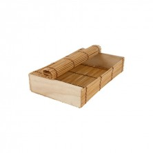 Cajita Para Sushi Bambú 21x13x4,5 cm