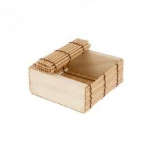 Cajita Para Sushi Bambú 8,5x8,5x4 cm (Caja 50 Uds)