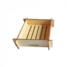 Mini Recipiente Tejido Flotante Bambú 6,3x6,3x3 cm (Pack 100 Uds)