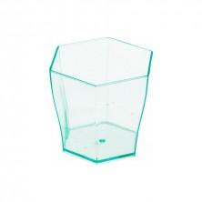 Mini Vaso Hexagonal Verdeagua 60ml - 4,7x4,6 cm (Pack 24 Uds)