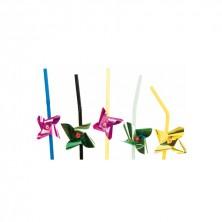Canutillos Surtido Molinillos De Colores 23,5 cm alto (Caja 100 Uds)