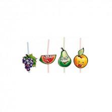 Canutillos Surtido Frutas 23,5 cm alto (Caja 100 Uds)