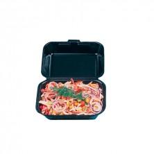 Envase Foam Negro Línea Económica Lunch Box 18,5 x 15,5 x 7 cm (Cajas 500 Uds)