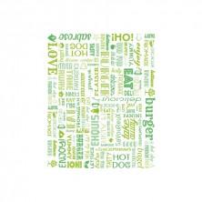 Envoltorio Para Hamburguesas Parole Verde 28 x 34 cm (Pack 1.000 Uds)