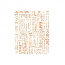 Envoltorio Para Hamburguesas Parole Naranja 28 x 34 cm (Pack 1.000 Uds)
