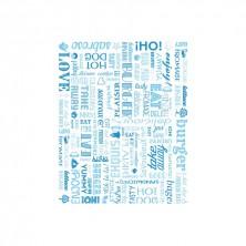 Envoltorio Para Hamburguesas Parole Azul 28 x 34 cm (Pack 1.000 Uds)