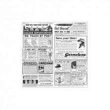 Envoltorio Para Recipientes Presentación Mesa Times Blanco Y Negro 31 x 31 cm (Pack 1.000 Uds)