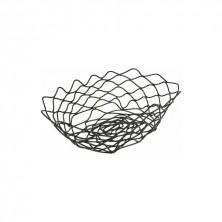 Cesta Oval Acero Negro 24 x 15,2 x 7 cm (Caja 6 Uds)
