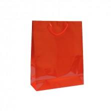Bolsa Roja Boutique Con Asa Cordón 40 + 15 x 50 cm (Pack 10 Uds)