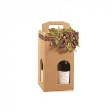 Caja Cartón Ondulado Para 4 Botellas 18 x 18 x 34 cm (Pack 20 Uds)