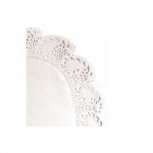 Blondas Ovales Caladas Blancas Celulosa 22 x 16 cm (Caja 250 Uds)