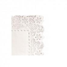 Blondas Rectangulares Caladas Blancas Celulosa 30 x 18 cm (Caja 250 Uds)