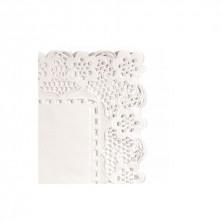 Blondas Rectangulares Caladas Blancas Celulosa 55 x 45 cm (Caja 250 Uds)