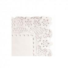 Blondas Rectangulares Caladas Blancas Celulosas Antigrasas 45 x 36 cm (Caja 250 Uds)